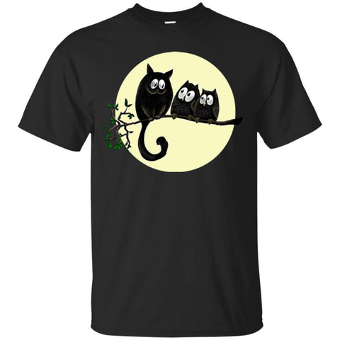 Cat Shirt Cat and Owls Cute Funny Unisex Tees - GoneBold.gift