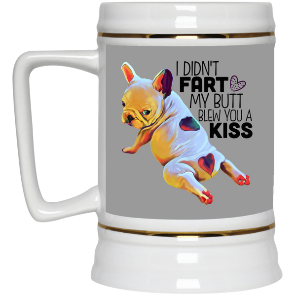 Frenchie Bulldog Funny Beer Stein 22oz.