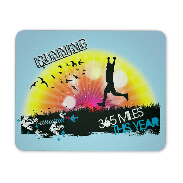 Running 365 Miles This Year - Mouse Pad