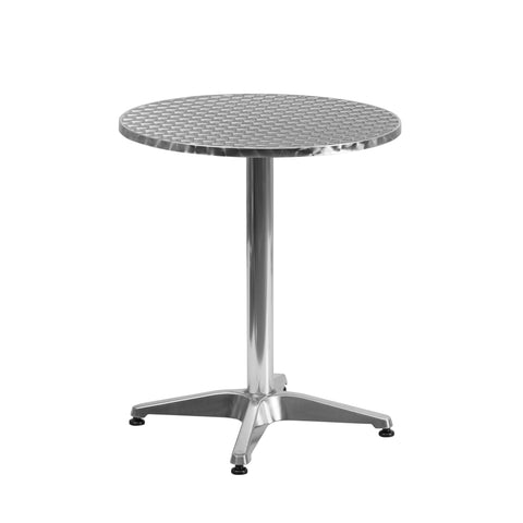 23.5'' Round Aluminum Indoor-Outdoor Table with Base