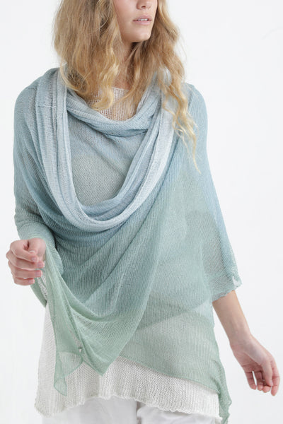 Aquarelle Big Air Bamboo Sheer Scarf - Light Teal - Aqua