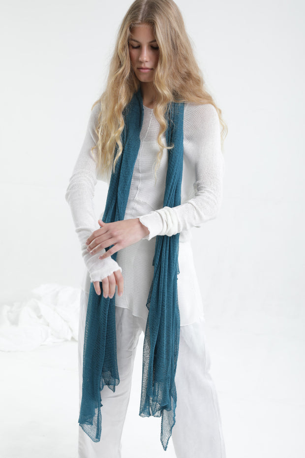 Turquoise Big Air Bamboo Light Scarf