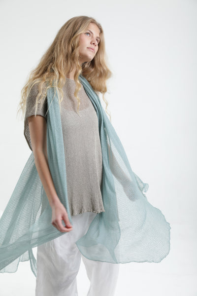 Big Air Bamboo Sheer Scarf - Light Teal
