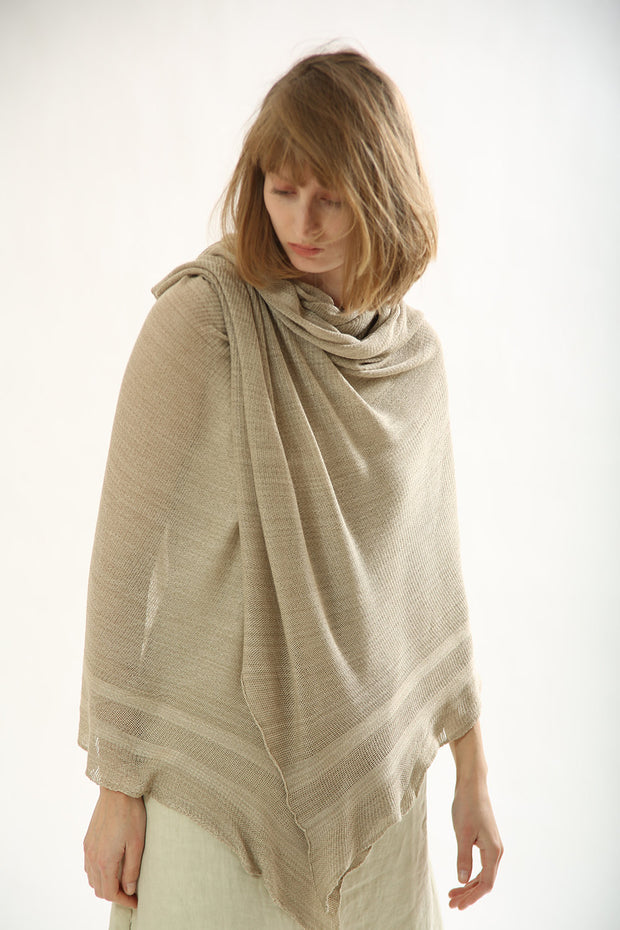 Natural knitting scarf ,knitted shawl