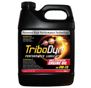 TriboDyn 0W-20 Fully Synthetic Engine Oil - 1 Quart (946mL)