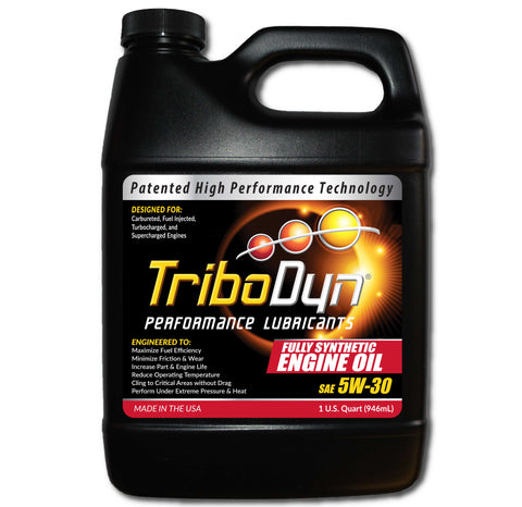 TriboDyn 5W-30 Fully Synthetic Engine Oil - 1 Quart (946mL)