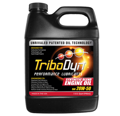 TriboDyn 20W-50 Synthetic Blend Engine Oil - 1 Quart (946mL)