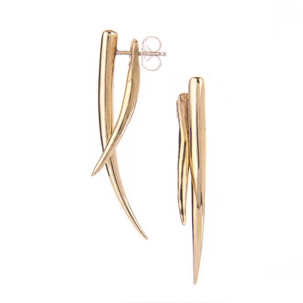 Brass Tusk Earrings