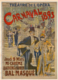 Carnaval Masquerade ball poster 1893, vintage opera art, Theatre sign, vintage dictionary art print -  - 1