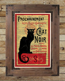 Le Chat Noir, black cat, french cabaret poster, dictionary page art print -  - 2