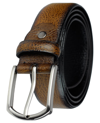 Eurosport Men's Design Faux Leather Classic Look Cut-To-Fit Belt with Metal Square Buckle, TS00011