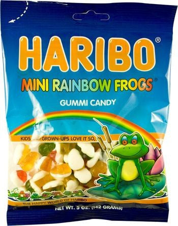 Haribo Bags Mini Rainbow Frogs 5oz