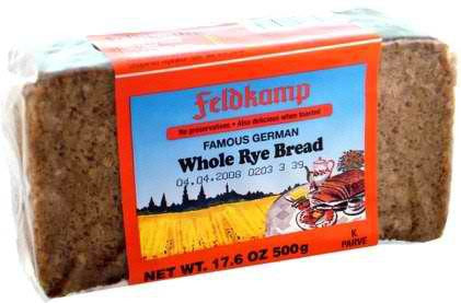 Delba/Feldkamp Breads Whole Rye Bread 16.75oz