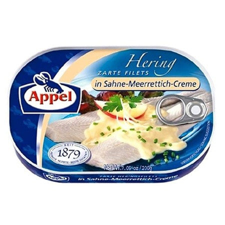 Appel Herring Fillets in Sahne-Meerrettich-Creme 7oz