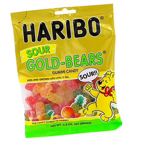 Haribo Bags Sour Gold Bears 5oz
