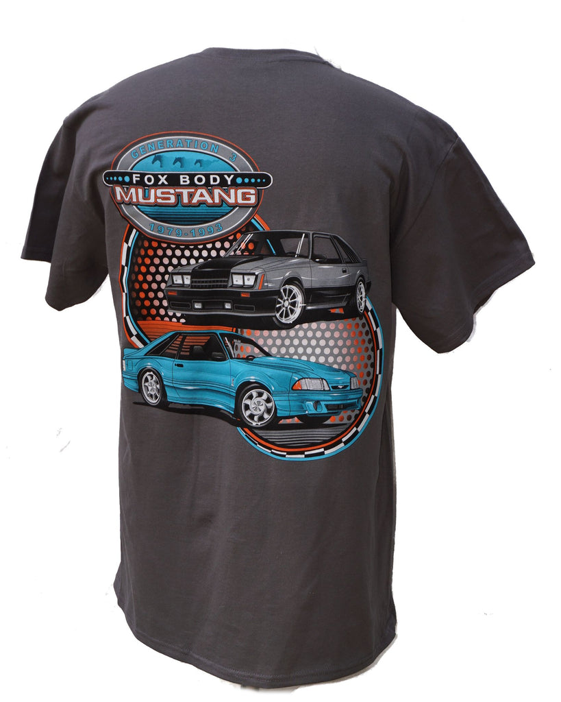 Fox Body 2 car t shirt with 79 and 93