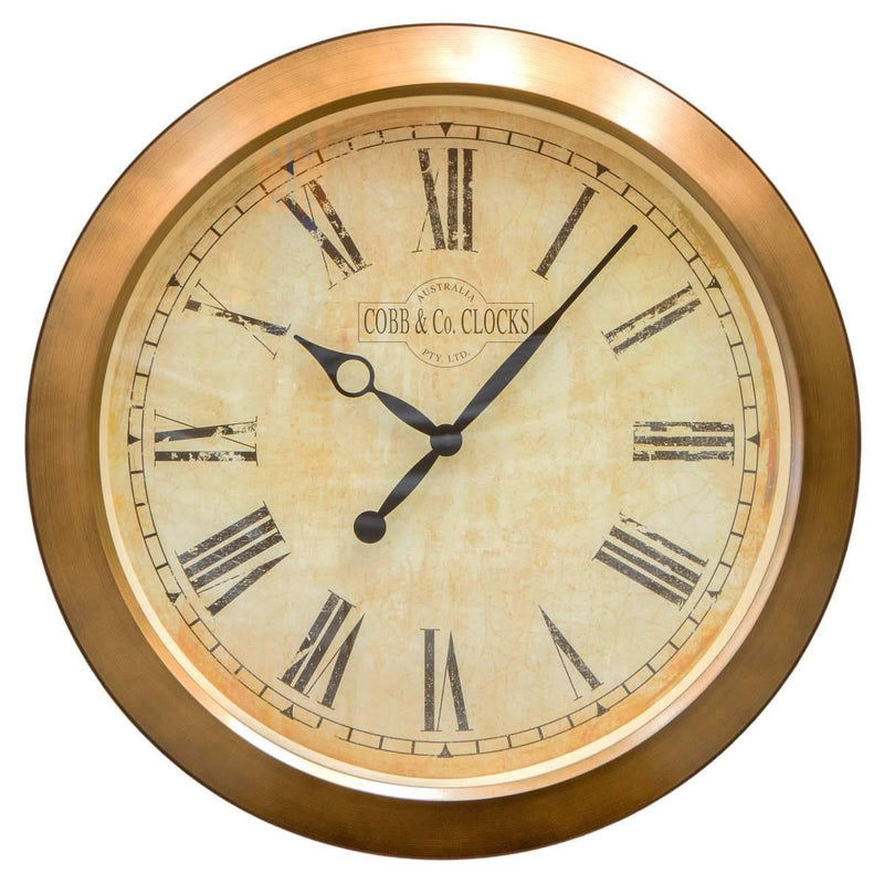 COBB & Co Outdoor Wall Clock, Antique, Roman, 51cm