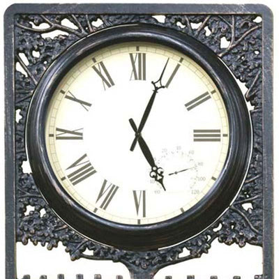 Horses Cast Aluminium Thermometer Outdoor Wall Clock Top 72cm CT-C28