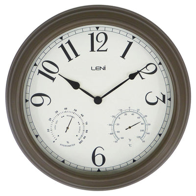 Leni Outdoor Wall Clock Old Gold 41cm 640002 1
