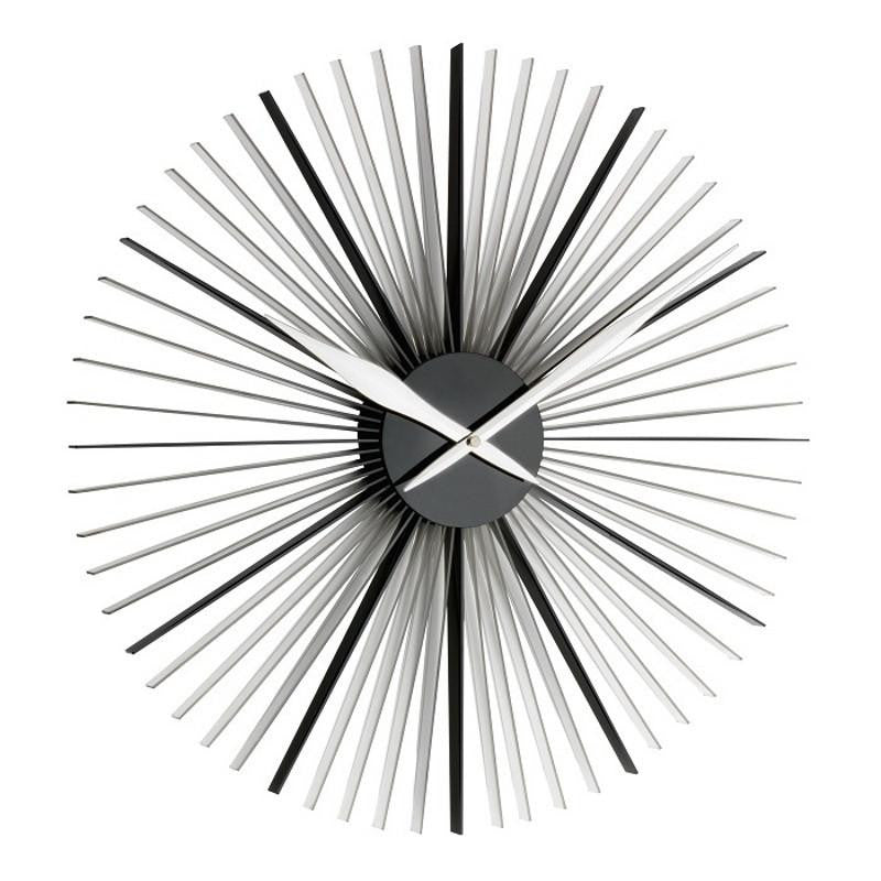 TFA Daisy Wall Clock, Transparent Black, 50cm