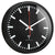 TFA Danny Railway Station Wall Clock, Black, 25cm
