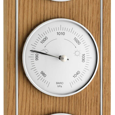 TFA Germany Harvey Analogue Outdoor Weather Station Natural Oak 36cm 20.1091.01 3