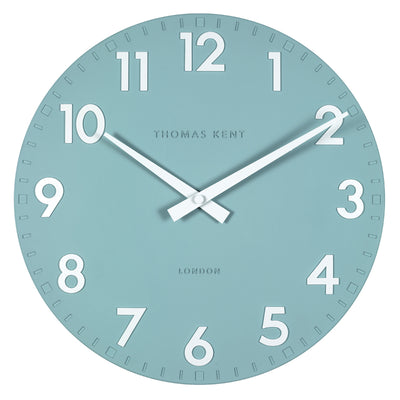 Thomas Kent Camden Wall Clock, Teal, 51cm KC20122 Front