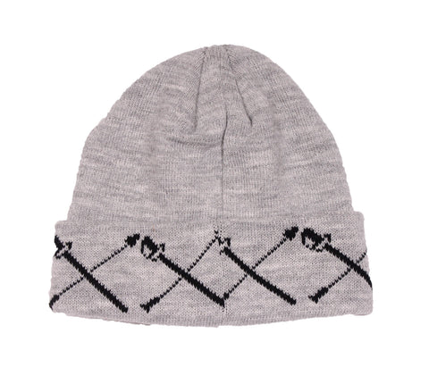 Black Scale - Swords Knit Beanie - The Hidden Base
