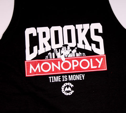 Crooks and Castles x Monopoloy - Time is Money Tank Top - The Hidden Base