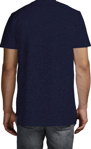 Profit x Loss - Block Profit Tee Navy Marl - The Hidden Base