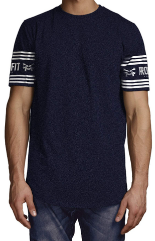 Profit x Loss - Bando Tee Navy Marl - The Hidden Base