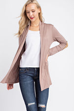 Long Sleeve Cardigan - Mocha