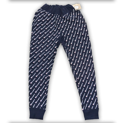 CHAMPION REVERSE WEAVE DIAGONAL SCRIPT SWEATPANTS - Navy