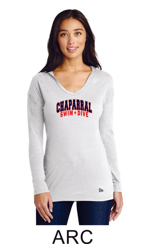 Chap Swim & Dive New Era Lightweight Hooded Tee- 2 designs