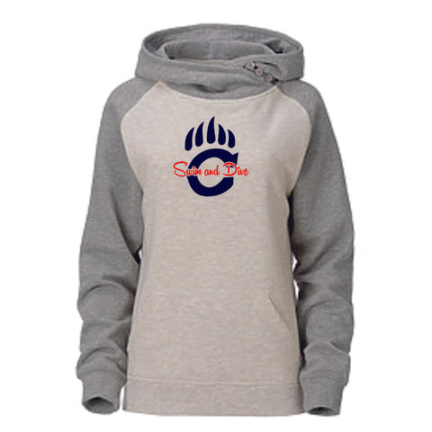 Chap Swim & Dive Ladies Asymmetrical Hoodie - Matte or Glitter