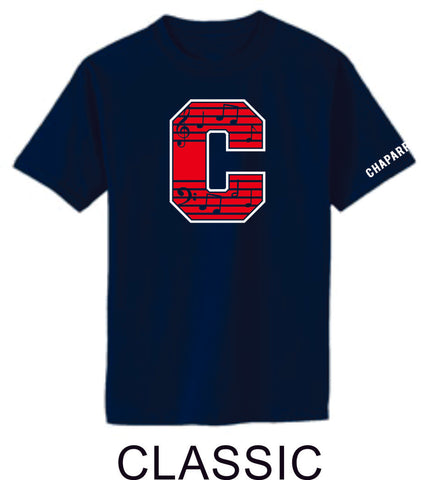 Chap Band Basic Tee- 3 Designs- Matte or Glitter