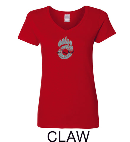 Chap Band Ladies Short Sleeve Tee- Matte or Glitter