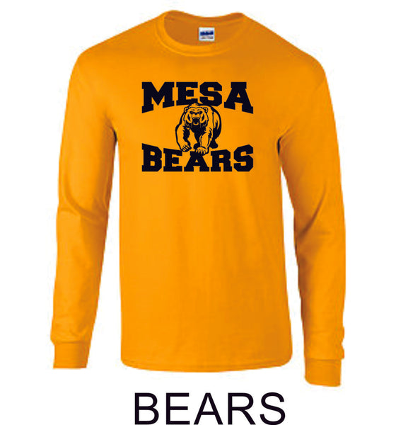 Mesa MS Long Sleeve Tee- 5 designs-Matte or Glitter