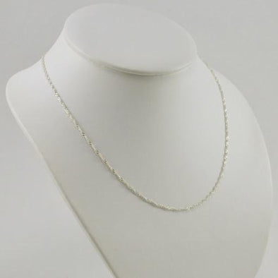 Sterling Silver 18 Inch Singapore 025 Chain