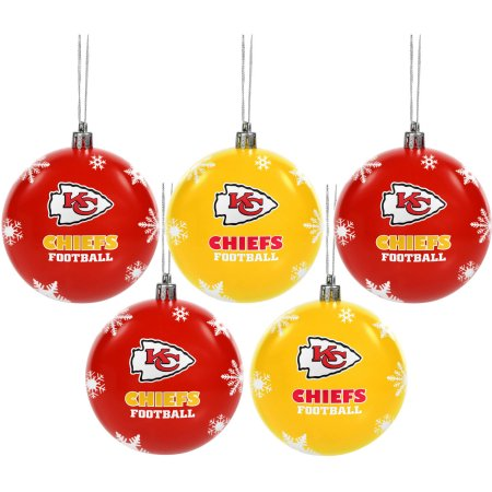 Forever Collectibles NFL 5-Pack Shatterproof Ball Ornaments - Kansas City Chiefs
