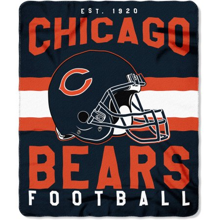 "NFL Chicago Bears ""Singular"" 50"" x 60"" Fleece Throw"