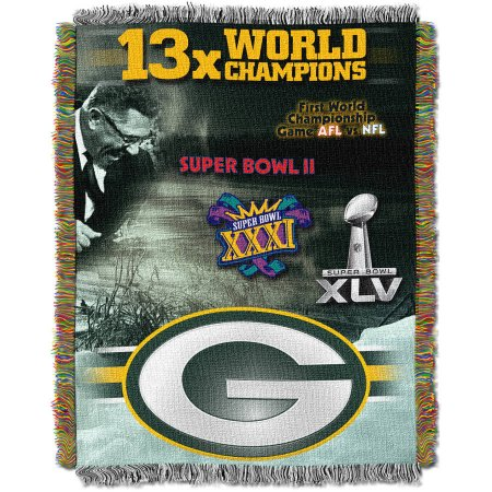 "NFL 48"" x 60"" Commemorative Series Tapestry Throw, Packers"