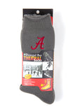 NCAA Alabama Crimson Tide Gray Thermal Socks