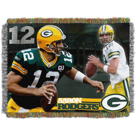 "NFL 48"" x 60"" Players Series Tapestry Throw, Aaron Rodgers"