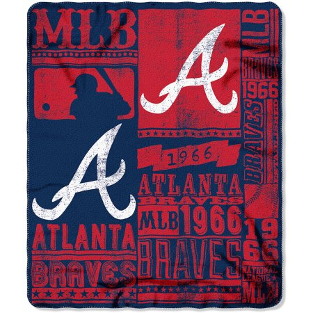 "MLB Atlanta Braves 50"" x 60"" Fleece Throw"