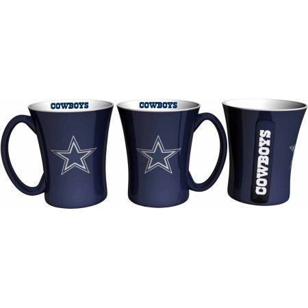 Boelter Brands NFL Set of Two 14 Ounce Victory Mugs, Dallas Cowboys
