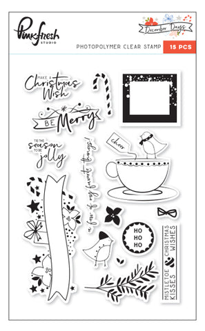 Pinkfresh Studio December Days Stamp Set - The Heart Desires