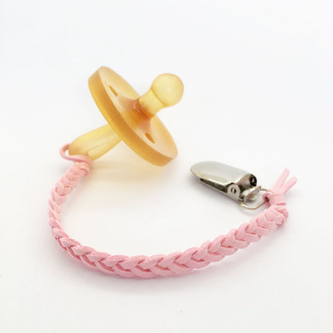 Baby Pink | Dummy Clip | Braided Faux Leather