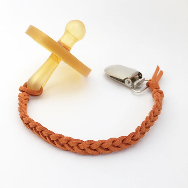 Burnt Orange | Dummy Clip | Braided Faux Leather