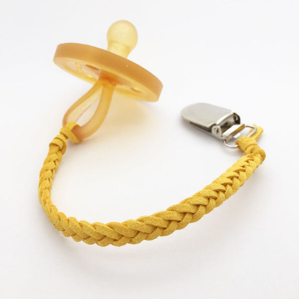Passionfruit Yellow| Dummy Clip | Braided Faux Leather